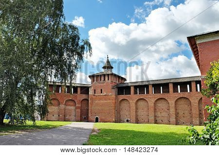 Walls and Trinity Tower of the Kremlin in Kolomna