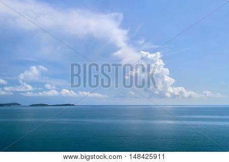 Tropical beach with sea blue sky Andaman Sea thailand