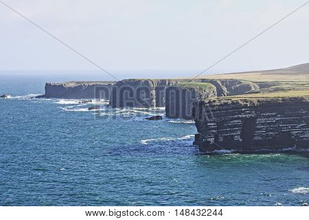 Loop Head cliffs. County Clare Ireland - HDR