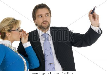 Young Executive Man With Attractive Blond