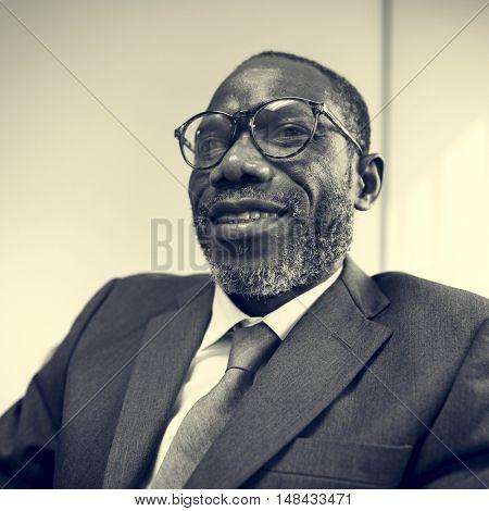African Descent Businessman Contemplation Concept