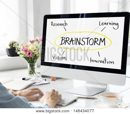 Brainstorm Education Inspire Learn Diagram Concept