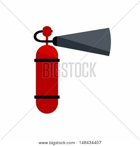 red fire extinguisher. Fire extinguisher icon isolated on white background. vector illustration