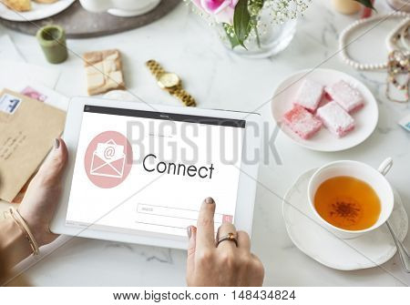 Online Message Blog Chat Communication Envelop Graphic Icon Concept