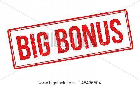 Big Bonus Rubber Stamp