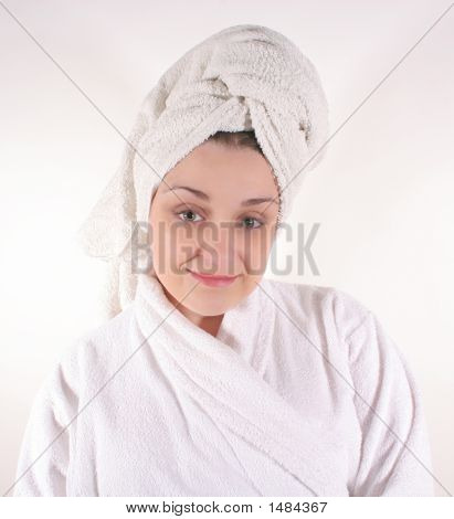 Woman In Bathrobe #2