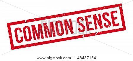 Common Sense Rubber Stamp