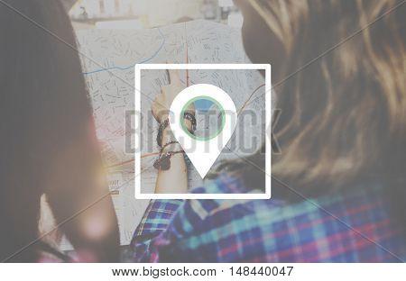 Location Destination Navigation Map Journey Concept