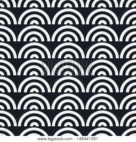 Seamless geometric pattern. Vector repeating texture. Geometric simple print. Monochromatic linear background.