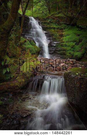 Blaen y Glyn Waterfall Near Merthyr Tydfil in the South Wales valleys Blaen y Glyn Waterfalls are a series of closely connected falls
