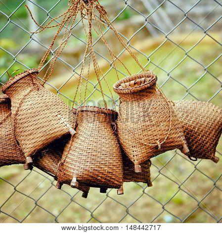 Baskets for sale in Sapa - Vietnam