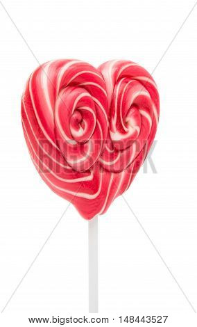 candy hearts valentine isolated on white background