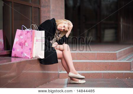 Sad Young Shopper