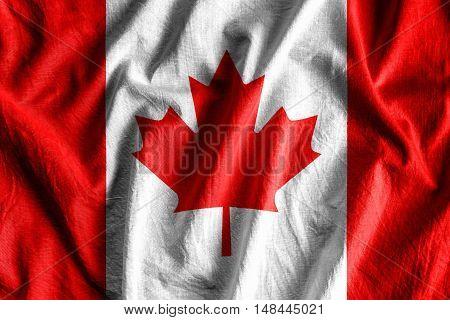 Waving flag of Canada - background flag
