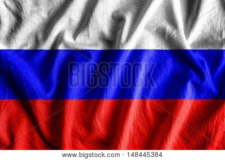 Waving flag of Russian Federation - background flag