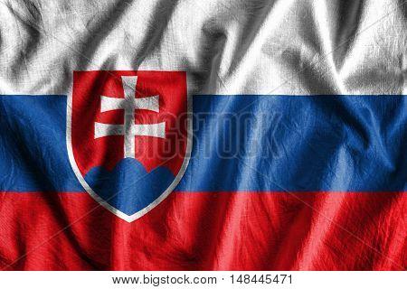 Waving flag of Slovakia - background flag