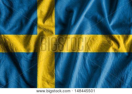 Waving flag of Sweden - background flag