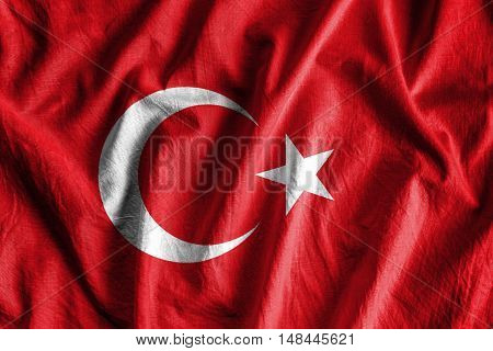 Waving flag of Turkey - background flag