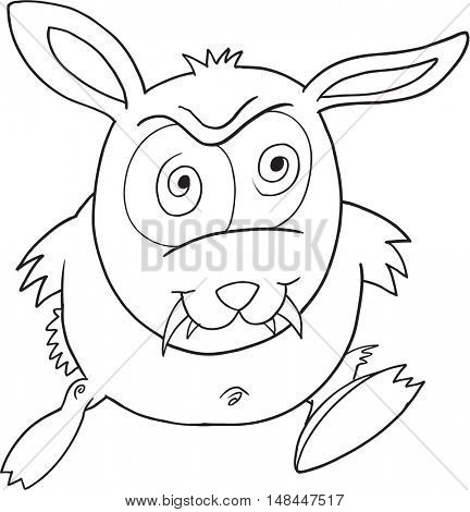 Monster Bunny Vector Illustration Art