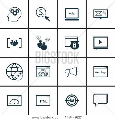 Set Of Seo, Marketing And Advertising Icons On Creativity, Website Optimization, Pay Per Click And M