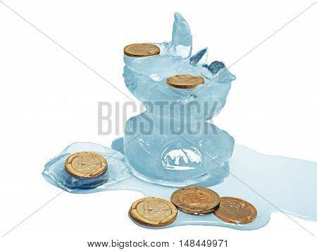 Cache Euro Coins In Ice.