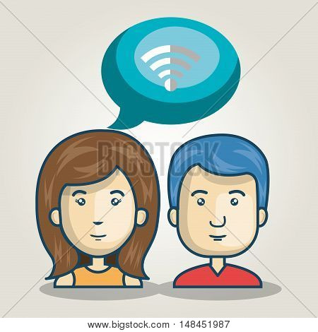 cartoon character bubble speech talk graphic vector illustration eps 10