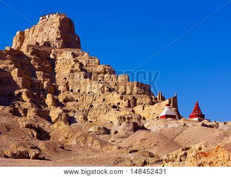 Tsaparang, The Ruins Of The Ancient Capital Of Guge Kingdom, Tibet