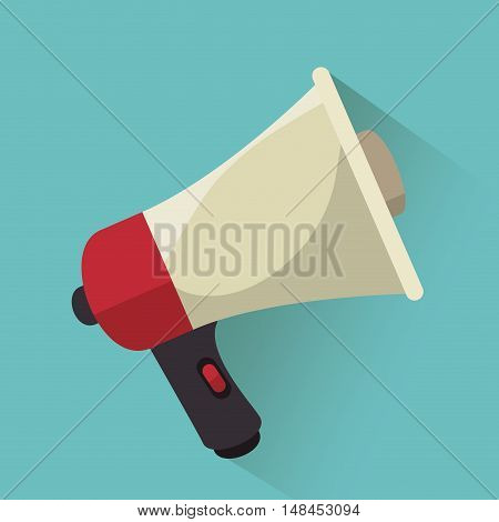megaphone speak news graphic vector illustration eps 10