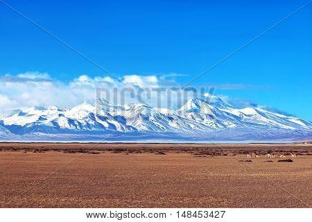 Gurla Mandhata Mount In Ngari, Tibet