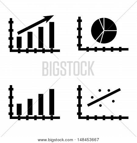 Set Of Statistics Icons On Scatter Chart, Bar Chart, Statistics Growth And More. Premium Quality Eps