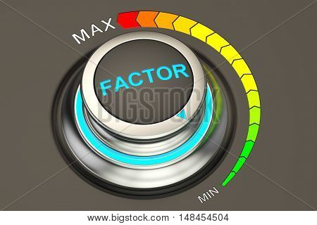 min level of factor concept 3D rendering