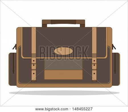 Vector Image Of Bag Isolated On White