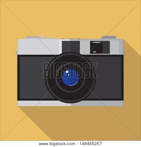 Vector Flat Image Of Vintage Manual Camera