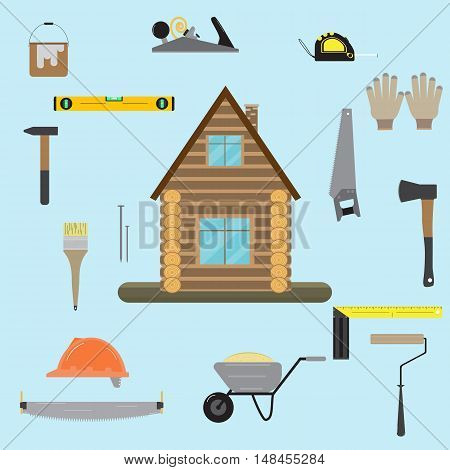House Construction Of An Log House