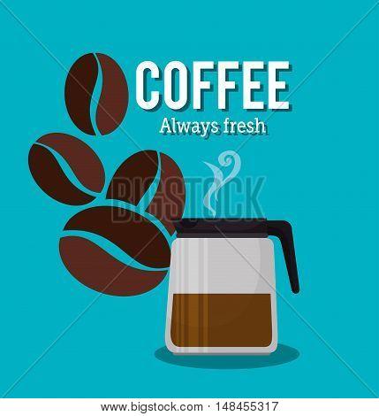 coffee maker pot glass beans graphic vector illustration eps 10