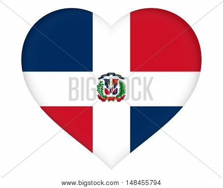 Illustration of the flag of the Dominican Republic