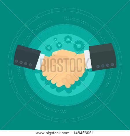 Vector Shaking Hands