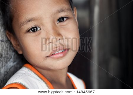 Young Happy Asian Boy Portrait