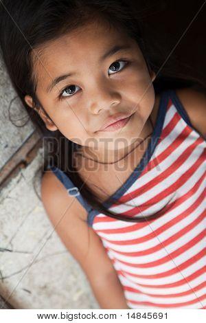 Retrato de menina bonita das Filipinas