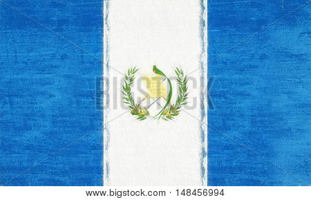 Illustration of the flag of Guatemala with a grunge look