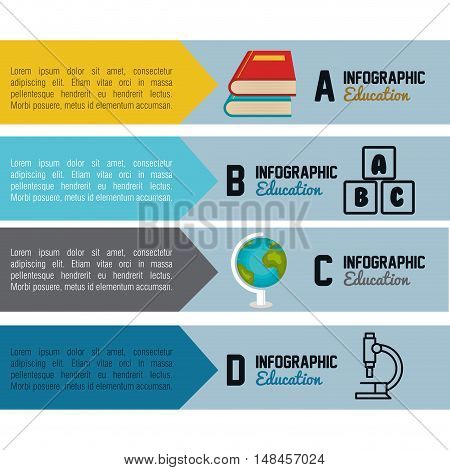 infographic education concept graphic vector illustration eps 10