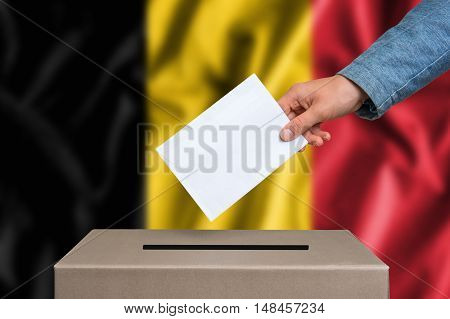 Election In Belgium - Voting At The Ballot Box