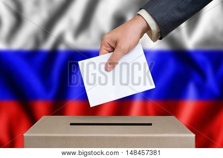 Election In Russia - Voting At The Ballot Box