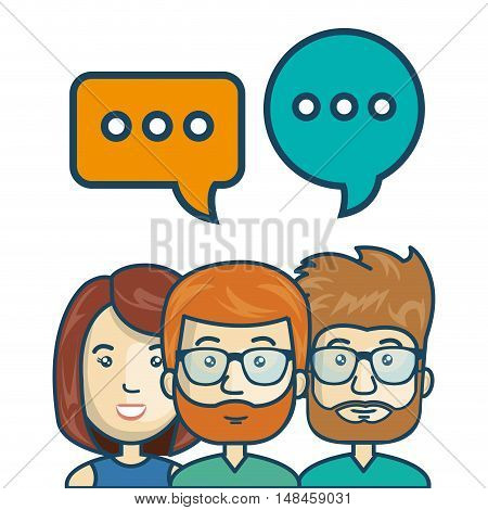 characters chat talk bubble speech graphic vector illustration eps 10