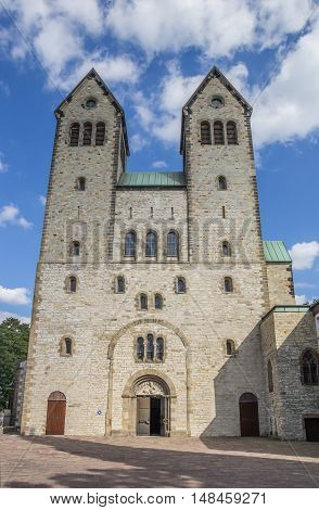 Front Of The Abdinghof Church In The Historical Center Of Paderborn