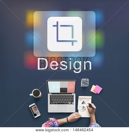 Design Software Resize Icon Concept