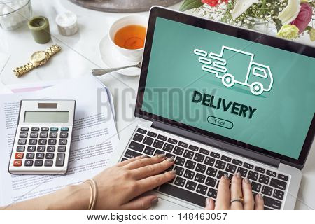 Truck Car Fast Delivery Service Concept