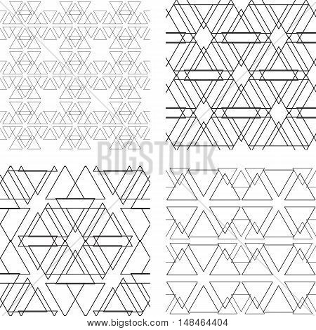 Seamless Black And White Ornament. Modern Stylish Geometric Pattern With Repeating Elements