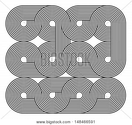 Line art abstract background. Stripes pattern. Vector illustration