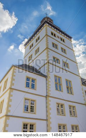 Tower Of The Gymnasium Theodorianum Building In Paderborn